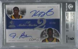 2007-08 Sp Threads Multi-marks 2 /50 Kevin Durant Jeff Green Bgs 9 Rookie Auto