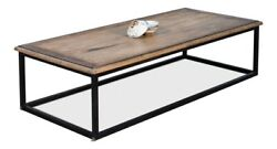 72 W Marisole Coffee Table Hand Crafted Solid Old Wood One Of A Kind Elm
