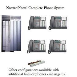 Refurbished Norstar Compact Ics Phone System And 4 T7316e Phones - Complete System