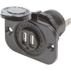 Blue Sea Systems 1016-bss Dual Usb 2.1a Charger Port 12/24vdc Socket Mount