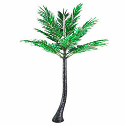 Realistic Curved LED Tropical Palm Tree Outdoor Yard Pool Decoration Commercial