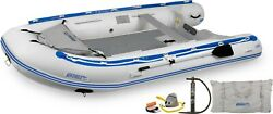 Sea Eagle 12.6sr Drop Stitch Deluxe Inflatable Sport Runabout Boat Dinghy Raft