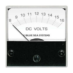 Blue Sea Systems 8028 Dc Analog Micro Voltmeter 2 Face 8-16 Volts