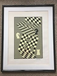 Victor Vasarely Land039echequier The Chess Board Serigraph Limited Edition 11/100