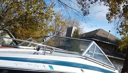 Complete Windshield From 1987 Larson Dc 215 Cuddy Cabin Boat Parting Out Delta