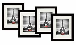Studio 500 4-value Pack11 X 14-inch Smooth Black Modern Luxury Picture Frames