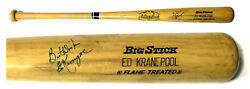 Ed Kranepool Mets Signed Game Used Baseball Bat Ins Best Wishes Autograph Coa