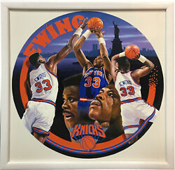 Terrence Fogarty Signed Original Patrick Ewing Canvas Painting Framed Auto 1/1