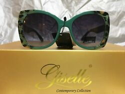 Giselle Large Oversized Rectangle High Fashion Designer Sunglasses Green Frame $9.99