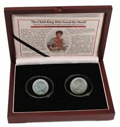 Child King Who Saved The Wold Yugoslavia's Peter Ii Box Of 2 Silver Coins