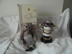 STEIFF 60th BEAR WITH VERY VERY RARE DIAMOND WEDDING OF H.M QUEEN ELIZABETH 11.