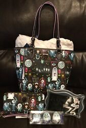 NWT Disney Dooney & Bourke Haunted Mansion Tote Purse & Wallet Set PLUS Gifts