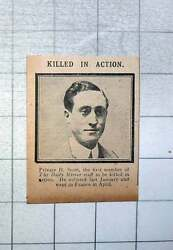 1915 Private H Scott First Member Daily Mirror Staff Killed In Action
