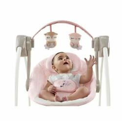 Girls Best Baby Infant Swing Compact Ingenuity Portable Adjustable Music New