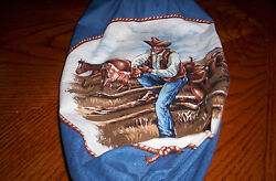 New Horses with Cowboy cotton hanging plastic grocery bag holder