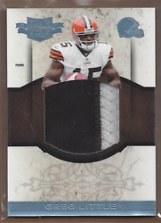 2011 Panini Plates And Patches Rookie Jumbo Prime 14 Greg Little Jersey /15