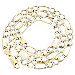 10k Yellow Gold Solid Diamond Cut Figaro Chain 8mm Necklace 20 - 30 Inches