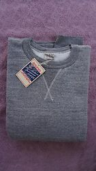 BUZZ RICKSON NWT 1930'S & 40'S LOOP-WHEELED SET-IN SLEEVES SWEATSHIRT GRAY XL