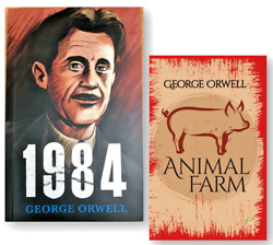 Animal Farm and 1984 by George Orwell 2 NEW Paperback Books Set
