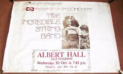 The Incredible String Band Concert Poster Wed 30th Oct 1968 Albert Hall Notts Uk