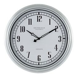 27923 Edinburgh Clock Works Company 16quot; Indoor Outdoor Wall Clock by Equity
