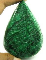 1596cts Rare Huge Collectible Hand Carved Quality Natural Green Emerald Gemstone