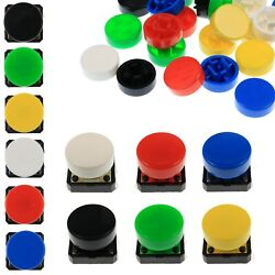 A37 Tactile Cap And Switch - Momentary Push Button - Round Flat Keycap - 6 Colours