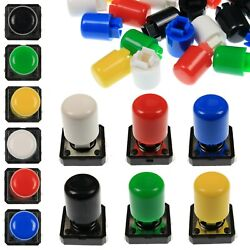 A21 Tactile Cap And Switch - Momentary Push Button - Tall Round Keycap - 6 Colours
