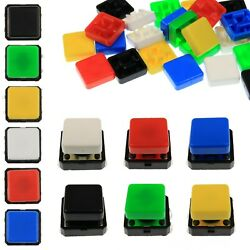 A14 Tactile Cap And Switch - Momentary Button - Square Flat Keycap - 6 Colours