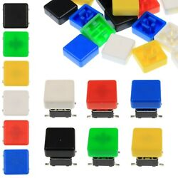 A66 Tactile Cap And Switch - Momentary Button - Square Flat Keycap - 6 Colours