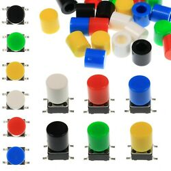 A56 Tactile Cap And Switch - Momentary Push Button - Round Flat Keycap - 6 Colours