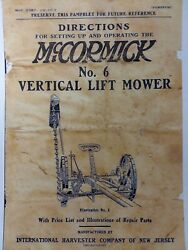 Mccormick Deering Ih No.6 Sickle Mower And Knife Grinder Owner And Parts 2 Manual S
