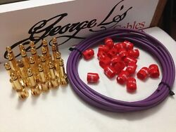 George Land039s 155 Pedalboard Effects Cable Kit Xl .155 Purple And Red / Gold 20/20/20