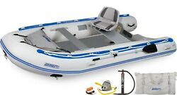 Sea Eagle 12.6 Sr Drop Stitch Swivel Seat Package Inflatable Sport Runabout Boat