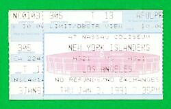 Wayne Gretzky 700th Career Goal Ticket Stub 131991 Kings v Islanders Hat Trick