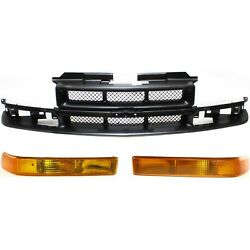 Grille Assembly Kit For 1998-2004 Blazer Turn Signal Light And Grille Assembly 3pc