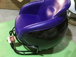 New Football Helmet Chair Black Body And Facemask Purple Seat Great 4 Man Cave