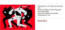 Cleon Peterson The Disappeared White Out Of 100 Sold Out