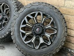 4x Genuine Simmons 18 X11 Ford Hilux Wildtrak Colorado Wheels And Monsta A/t Tyres