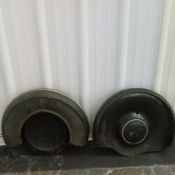 Pair Of Antique Fender Spare Tire Covers