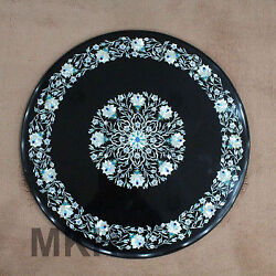 Round Coffee Table Top Persian Style Art Modern 19th Century Design Vintage Work