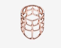 Hermes Niloticus Rose Gold Ombre Ring Large Model 2550 Retail Size 7 54