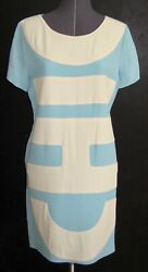 Rare Vintage 1990s Cheap And Chic Moschino Dress Light Blue Cream Letters 8 38