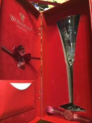 Waterford Crystal 12 Days Of Christmas Fluted Champagne Glass Partridge Pear