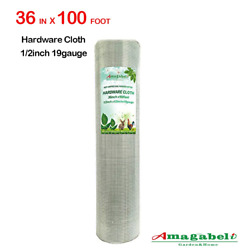 1/2 Hardware Cloth 36 X 100 19 Gauge Galvanized Welded Wire Metal Mesh Roll For