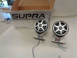 Supra 112443 S-bend Roswell Top Spin Tower Speaker Pair 2 Chrome Boat