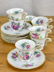 Set Of Eight Coffee Cups And Saucers - Bernardaud And Co, Limoges