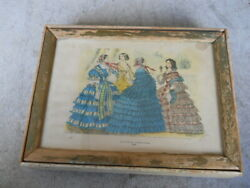 Vintage Swisher Sweets Empty 6 Cent Wood Cigar Box Godey's Fashions 1859