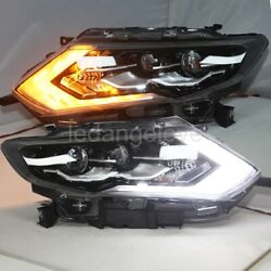 LED turn signal lights For 2017-2018 Year X-Trail Rogue LED Headlights lamps LD