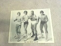 AUTOGRAPHED PHOTO WITH FIRST NAMES VON ERICH CLAN 1983 AND TICKET STUBS